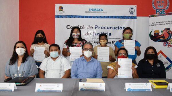 Instala la FGE Comité de Procuración de Justicia en la Zona Maya.