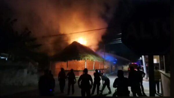 Demanda PRI estatal se aclare incendio en su sede de José M. Morelos.