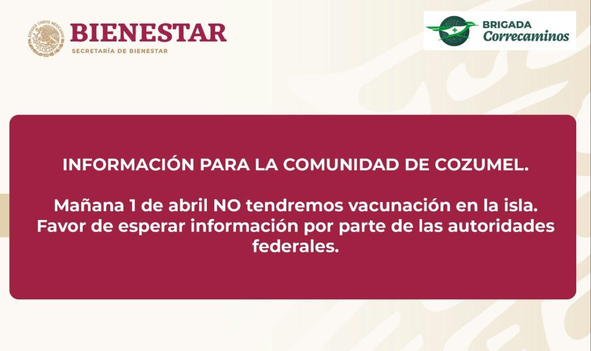 Refutan al edil de Cozumel en la vacunación a adultos mayores.