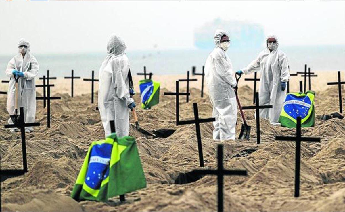 Registra Brasil nuevo récord de muertes por Covid-19