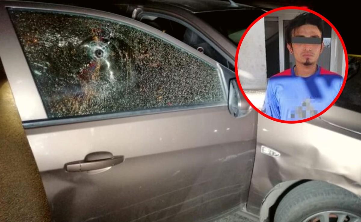 Detienen a motociclista que disparó contra una familia en Mérida
