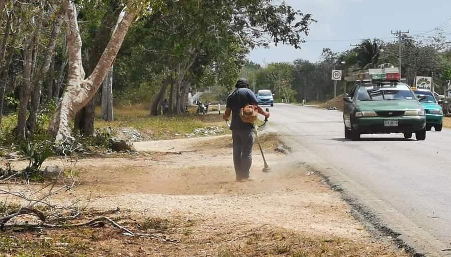 Mejora gobierno de Puerto Morelos imagen urbana de Leona Vicario