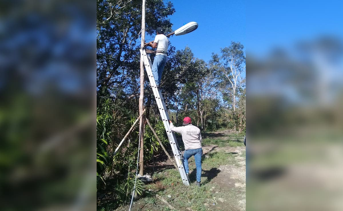 Intensifican mantenimiento de luminarias en Lazaro Cárdenas
