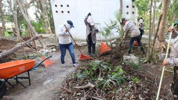 Mejora gobierno de Puerto Morelos espacios públicos