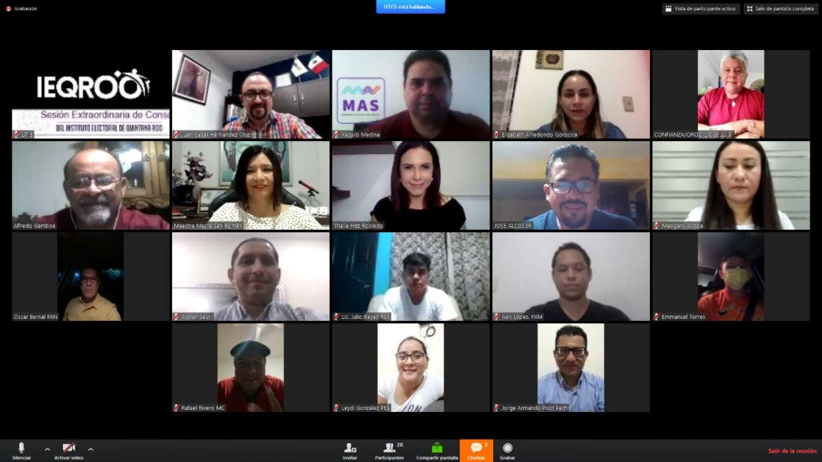Aprueban modificar la coalición parcial 'Va por Quintana Roo'.