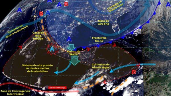 Clima: Pegará evento de 'norte' en Quintana Roo.