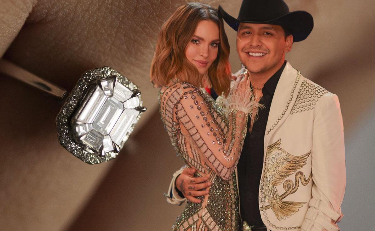 Este es el anillo de compromiso que Christian Nodal habría comprado a Belinda