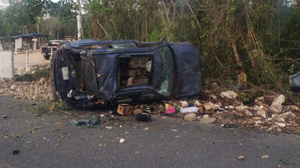 Cancún: Pierde la vida una mujer en accidente vial