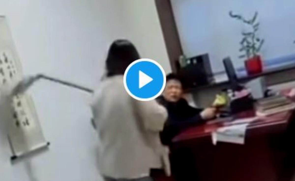 Por ser acosada sexualmente por su jefe, trabajadora le da una golpiza