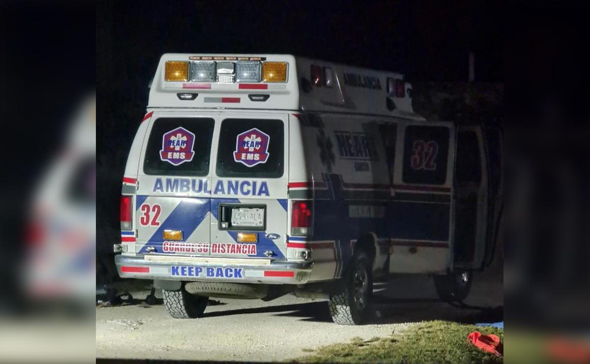 Chetumal: Encuentran a dos ejecutados en ambulancia abandonada
