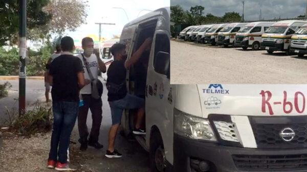 Video: Sacan de circulación a transportistas de Cancún