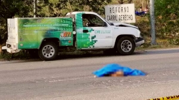 Muere mujer al ser atropellada en el Periférico de Mérida por personal de la CFE