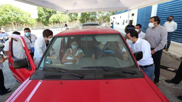 Mérida ya cuenta con un módulo de vacunación en vehículo contra Covid-19