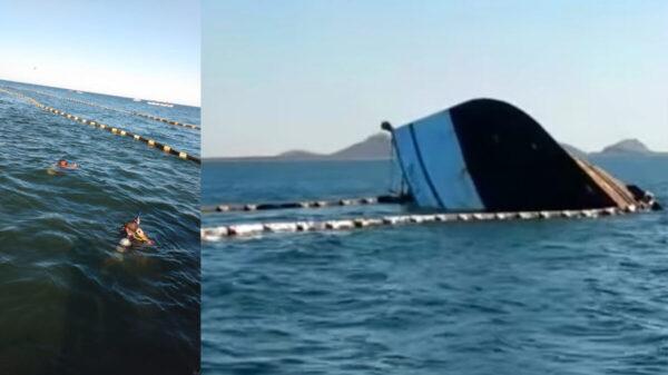 Se hunde barco camaronero tras choque con un ferry en Sinaloa