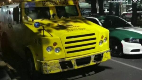 Roban camioneta de valores con 11 millones de pesos, en la CDMX