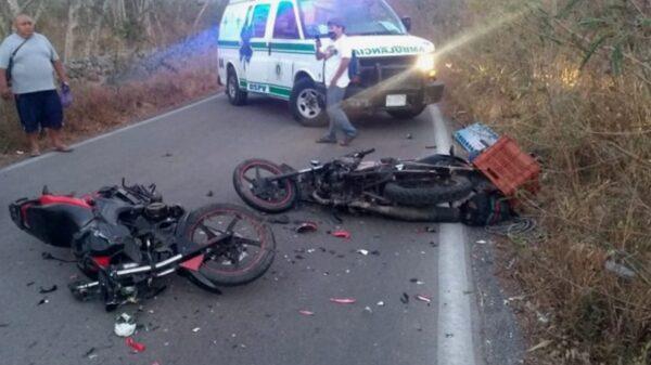 Fuerte choque entre motociclistas en la vía Kiní-Sacapuc deja lesionados