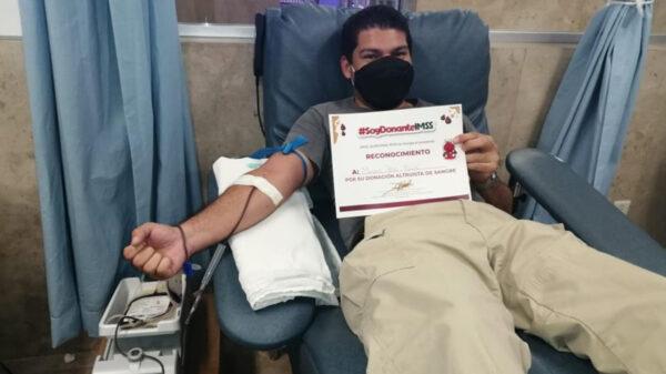 Pueden donar sangre personas que tuvieron covid: IMSS Quintana Roo