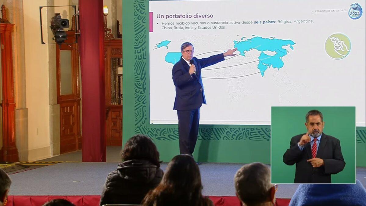 Viaja Ebrard a Rusia, China, India y EU; agilizará envío de vacunas