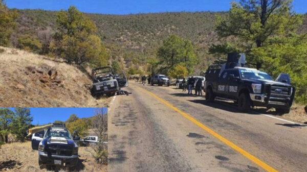 Reportan 4 policías muertos tras ser emboscados en Chihuahua