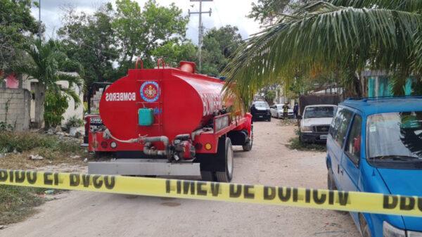 Cancún: Tanque le explota y le corta el cuello matándolo