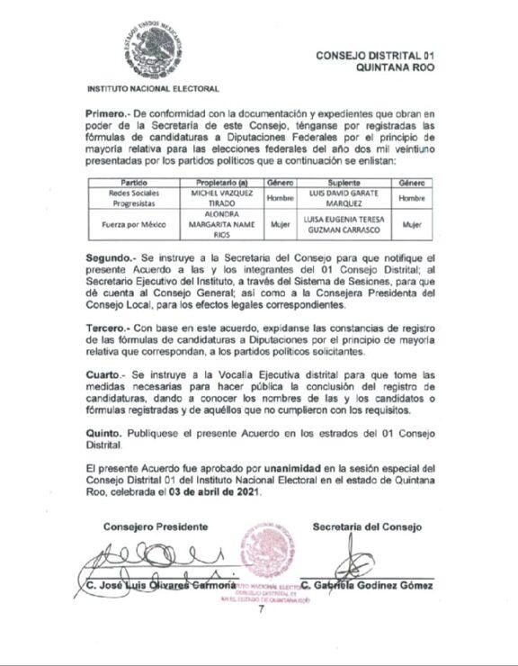 Logra Fuerza por México meter 'pluris' por Quintana Roo; la mayoría de los partidos políticos en la contienda no lo hicieron.