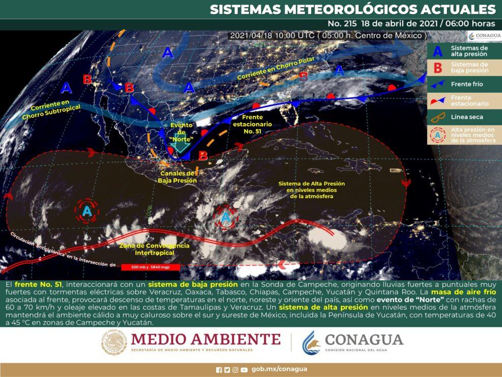 Quintana Roo: Pronóstico del clima para hoy domingo 18 de abril.