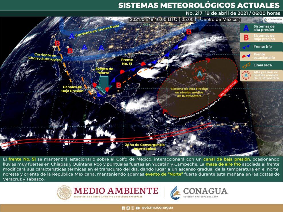 Pronóstico del clima para hoy lunes 19 de abril en Quintana Roo.