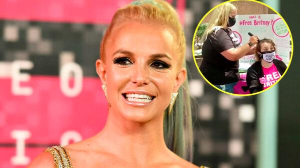 Fan de Britney se rapa a afueras de la Corte donde fue su audiencia
