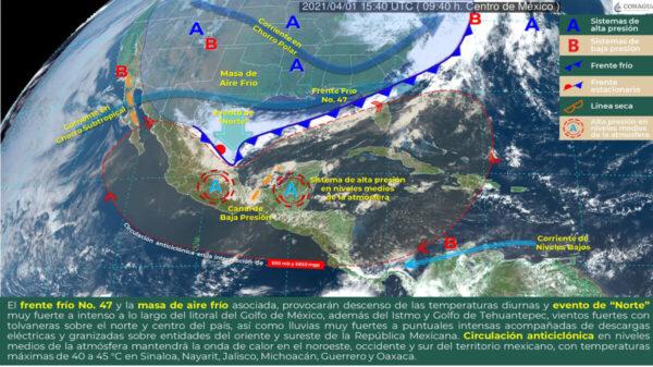 ¡Prepárate! Prevén lluvias para el sureste del país