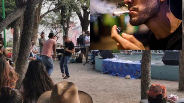 Con sendos porros, celebran en Cancún día de la mariguana