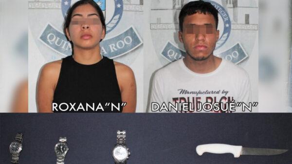 """Detiene Policía de Cancún a pareja con """"arma prohibida"""""""