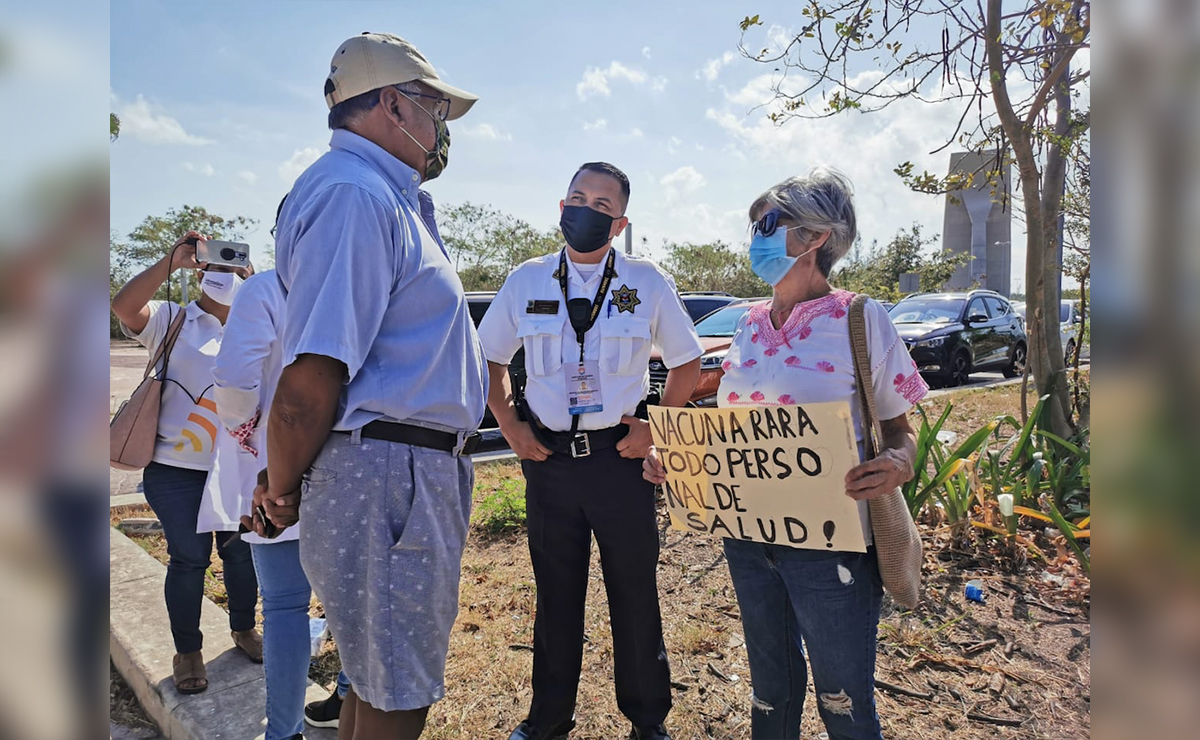 Convocatoria a marcha de personal de salud en Cancún no logra aforo