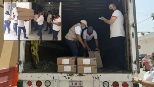 Llega a Quintana Roo material electoral para votaciones del 6 de junio