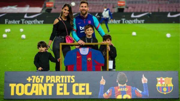 Homenajean a Lionel Messi en el Camp Nou