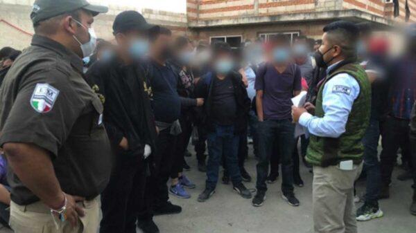 Detienen a 136 migrantes en un domicilio de Tlaxcala