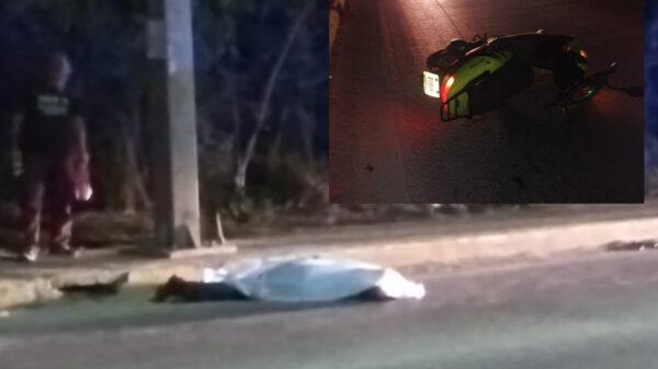 Cancún: Motociclista pierde la vida al volarse un paso peatonal