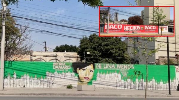 El PRI lo hace de nuevo; borra mural sobre feminicidios para colocar propaganda