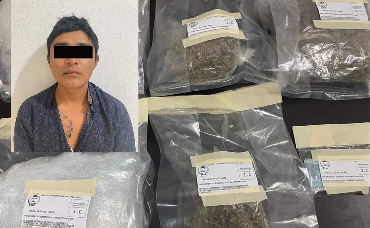 Con tres kilos de mariguana, detienen a presunto narco en Cozumel