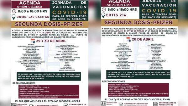 Reanudarán mañana vacunación contra covid-19 a adultos mayores