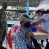 Aplican segunda dosis de vacuna covid-19 en zona maya