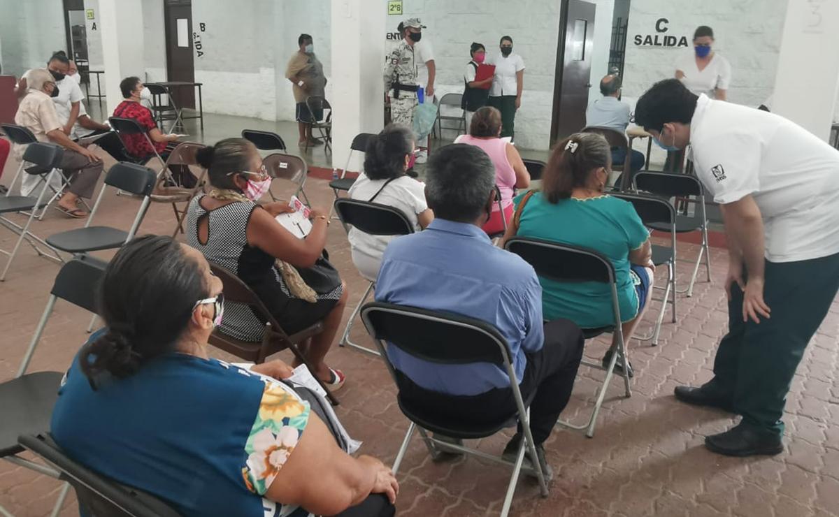 Baja afluencia en último día de vacunación covid-19 en Cancún