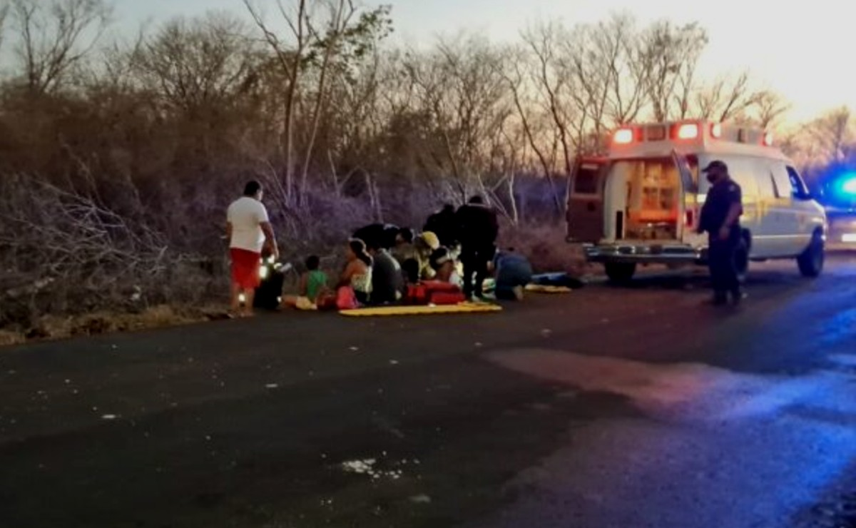 Volcadura en la vía Kinchil-Celestún deja a tres menores lesionados de gravedad