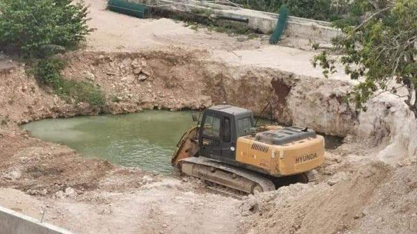 Pretende desarrolladora rellenar cenote en Playa del Carmen.