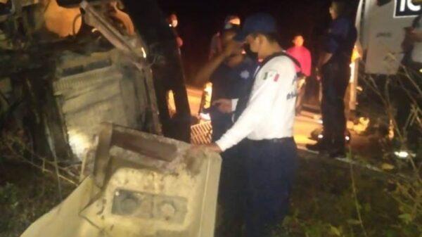 'Fantasma' saca de la carretera Cancún-Mérida a trabajador de ICA.