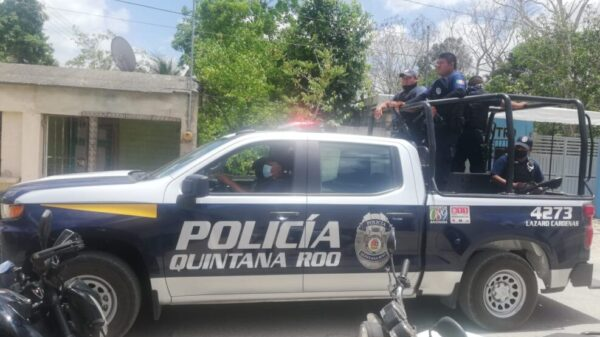 Intensifican recorridos la Policía Quintana Roo en la alcaldía de Ignacio Zaragoza.