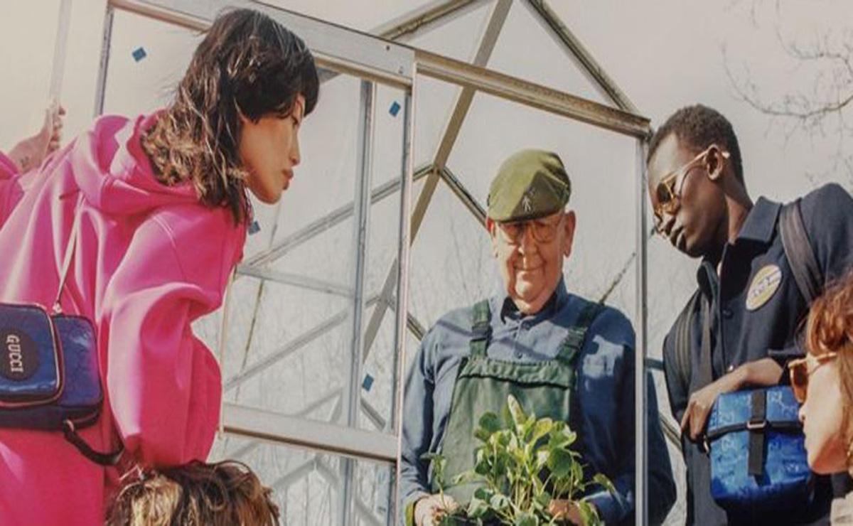 Un agricultor que cosecha hortalizas gigantes se ha convertido en una estrella de la moda al participar en una campaña de Gucci