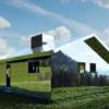 Doug Iitken, artista estadounidense, diseñó una casa cubierta de espejos en los Alpes suizos, una obra por demás espectacular