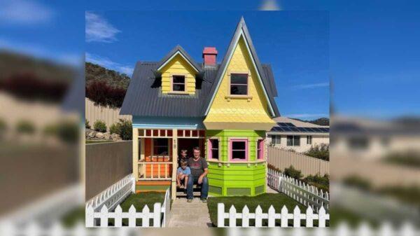 "En redes sociales se viraliza el regalo que un padre le hizo a sus hijos; se trata de una réplica exacta de la casa de la película ""Up"""