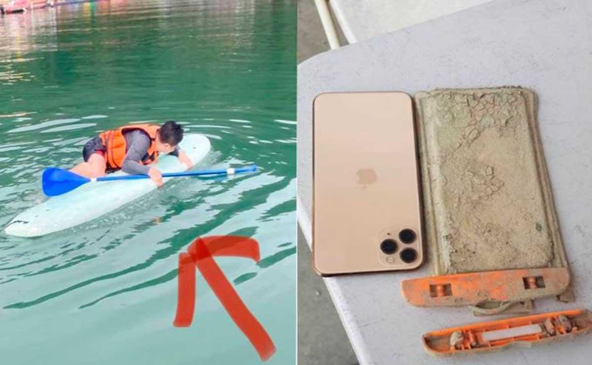 Después de un año de dar por perdido su celular, un turista identificado como Chen Yj, logró recuperarlo, el cual seguía funcionando
