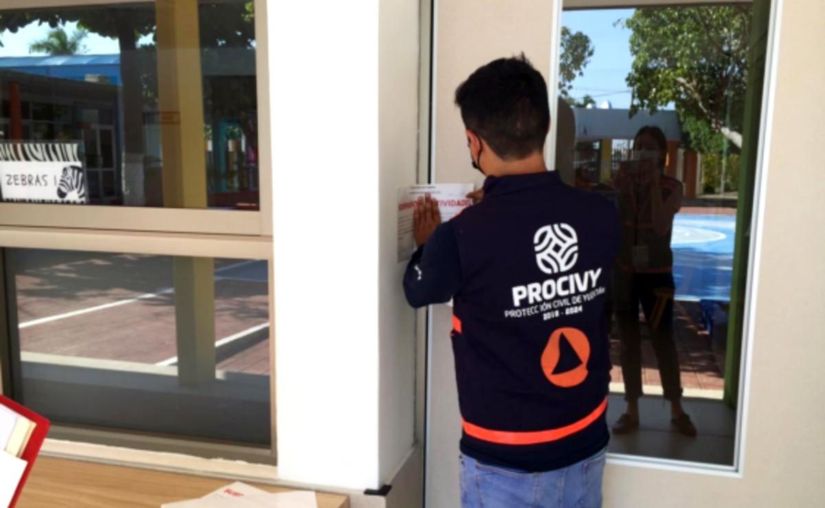 Clausuran colegio de Mérida por prestar servicio de guardería sin medidas contra Covid